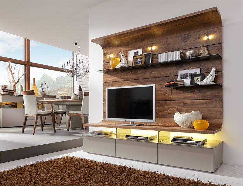 Contemporary Felino Wall Storage System/Opt LED/Choice Of Colour