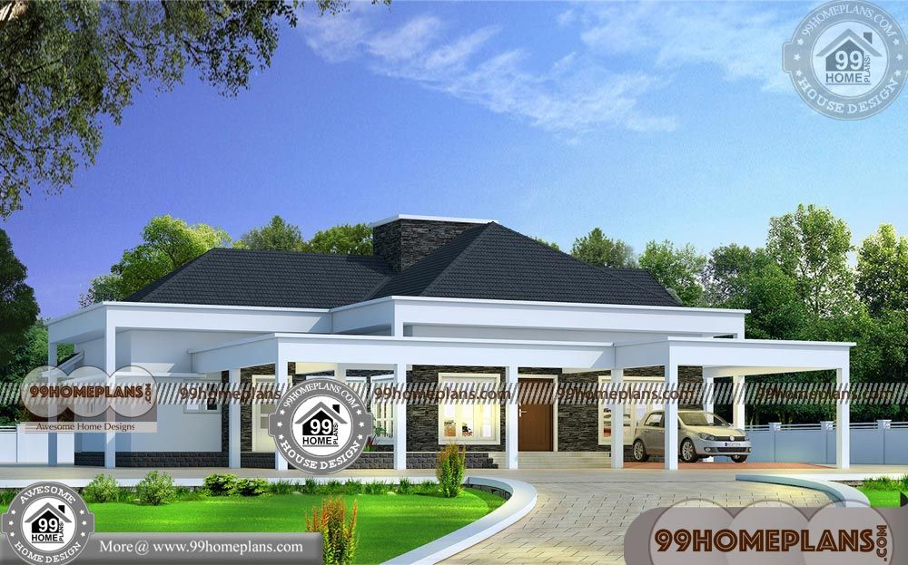 Home Design Single Floor 50 Kerala Traditional House Models Collection With Images Bungalow House Design Kerala Traditional House House Design Pictures