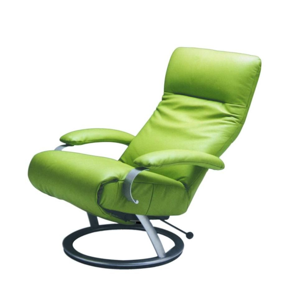 Attractive Contemporary Green Leather Recliner Ergonomic Modern Furniture  Swiveling Reclining Chair As Well As