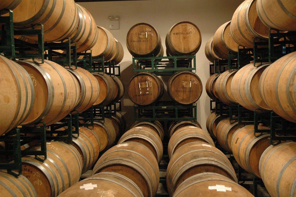 Barrel room at Brooklyn Winery in Williamsburg, NY