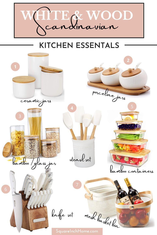 White And Oak Kitchen Accessories