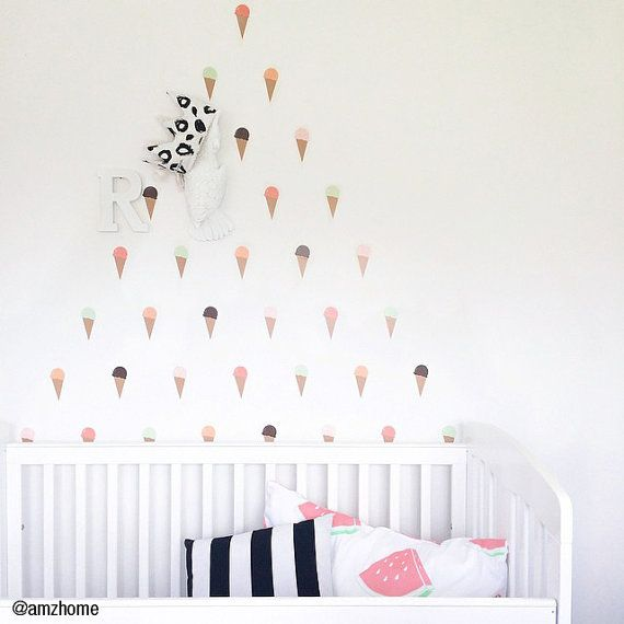 Vinyl Wall Sticker Decal Art Ice Cream Cones By Urbanwalls