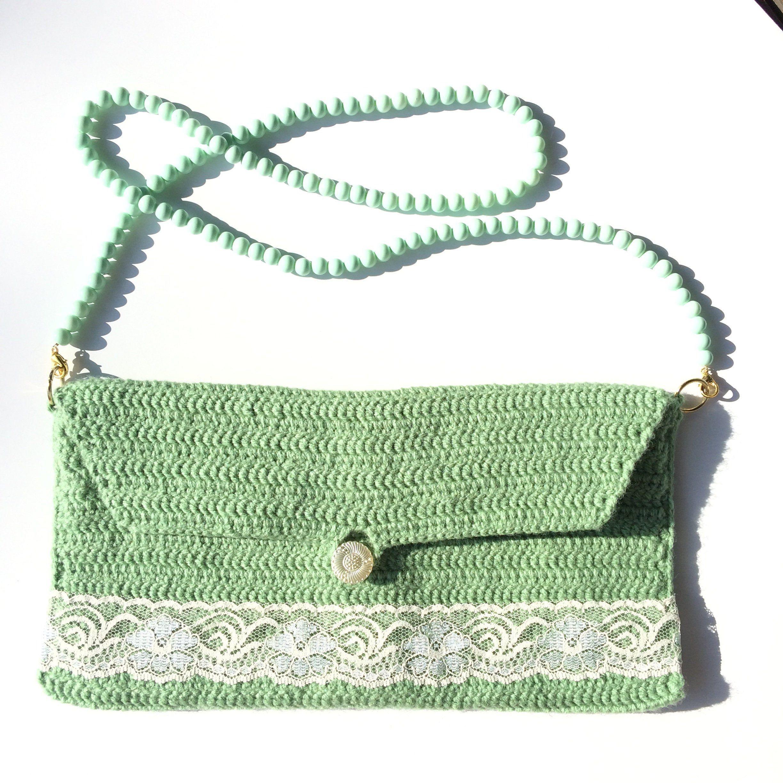 Green party purse green shoulder bag green boho bag