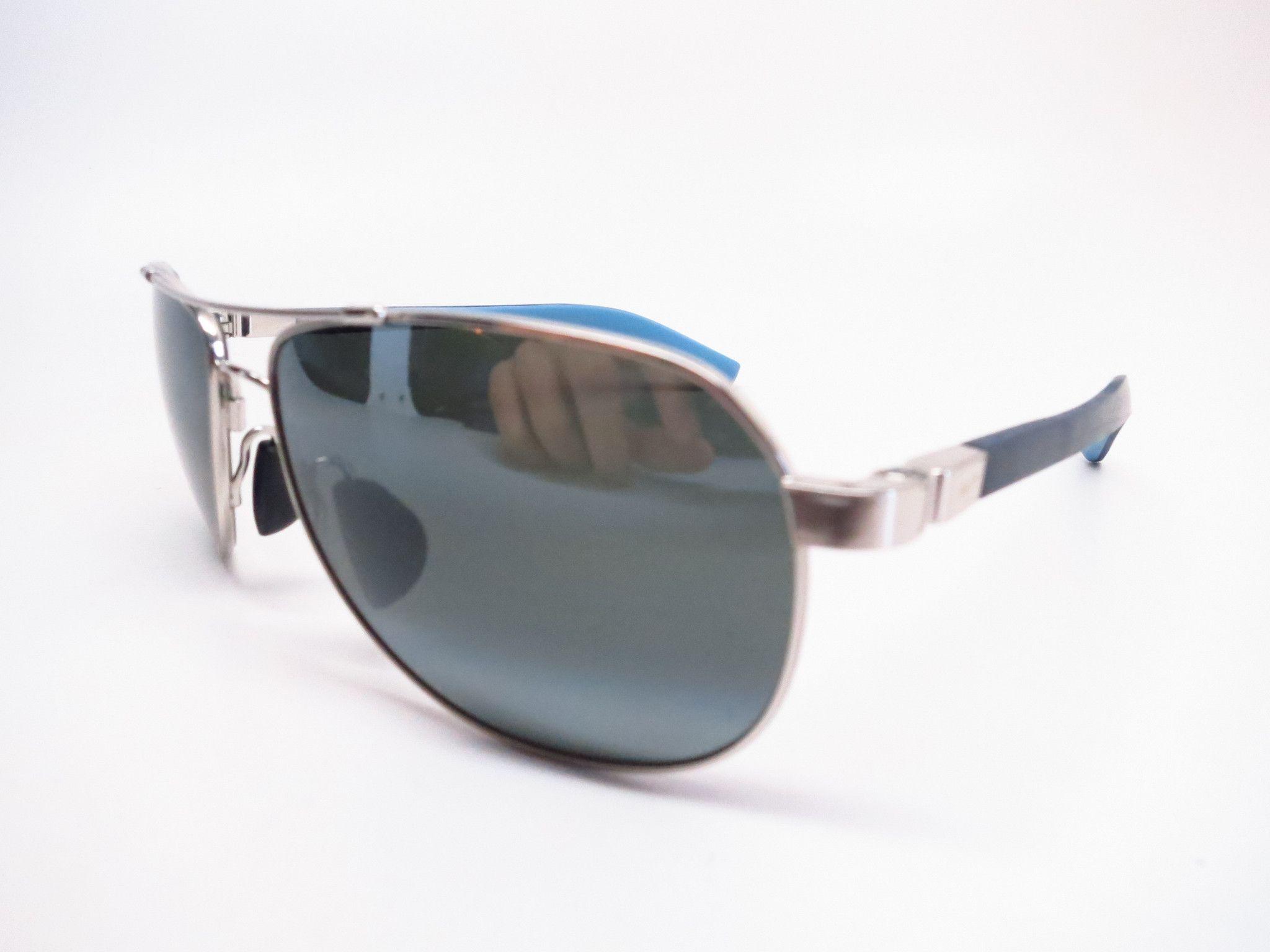 1cceaf762e Maui Jim Guardrails MJ 327-17 Silver with Blue   Light Blue Polarized  Sunglasses