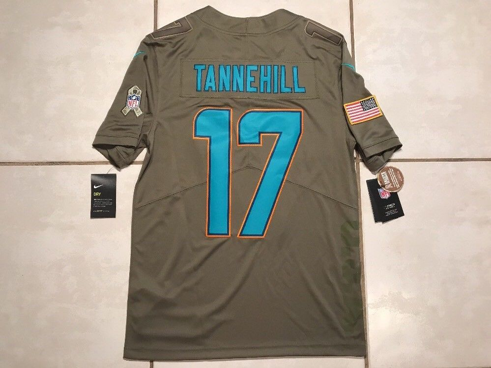 4ff655ed NWT NIKE Miami Dolphins Ryan Tannehill Salute To Service NFL Jersey ...