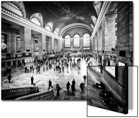 Lifestyle Instant, Grand Central Terminal, Black and White Photography Vintage, Manhattan, NYC, US Posters by Philippe Hugonnard at AllPosters.com