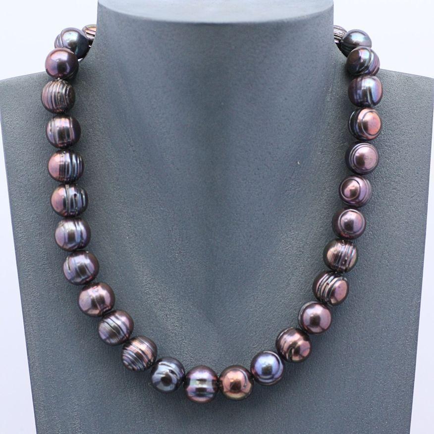 zuchtperlen kette tahiti schwarz 10 12 mm echte perlenkette 45 cm silber perlen pinterest. Black Bedroom Furniture Sets. Home Design Ideas