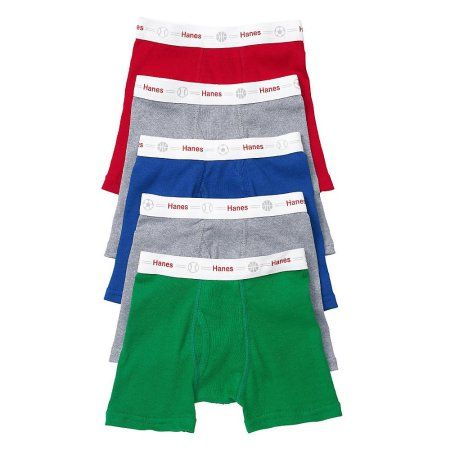 Hanes Boys 4 Pack Ultimate ComfortSoft Blue Dyed Boxer Brief