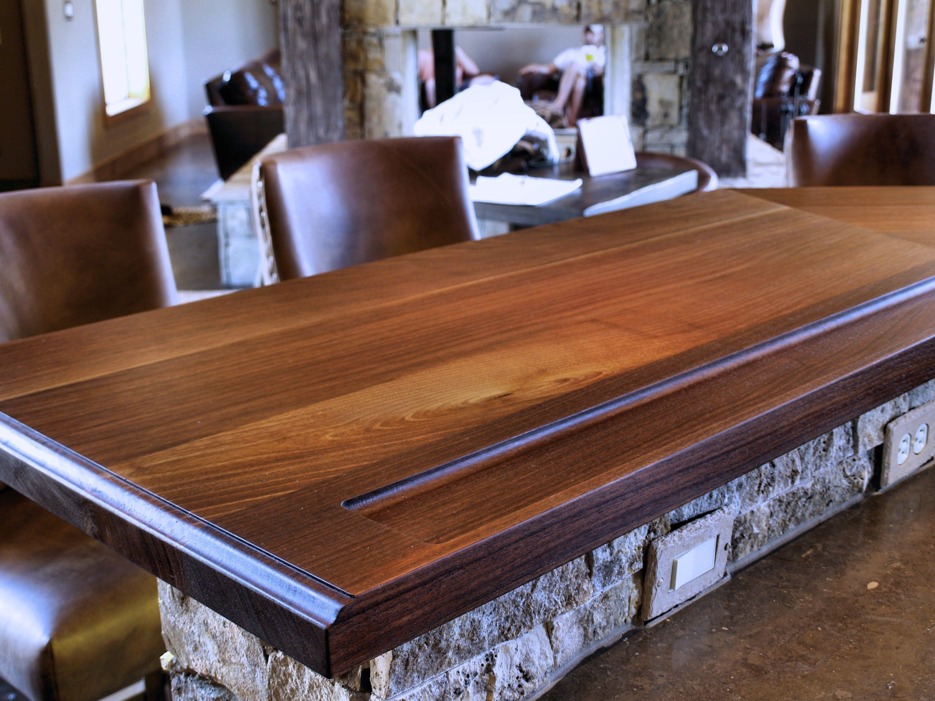 DeVos Custom Woodworking - Slab Walnut Wood Countertop ...