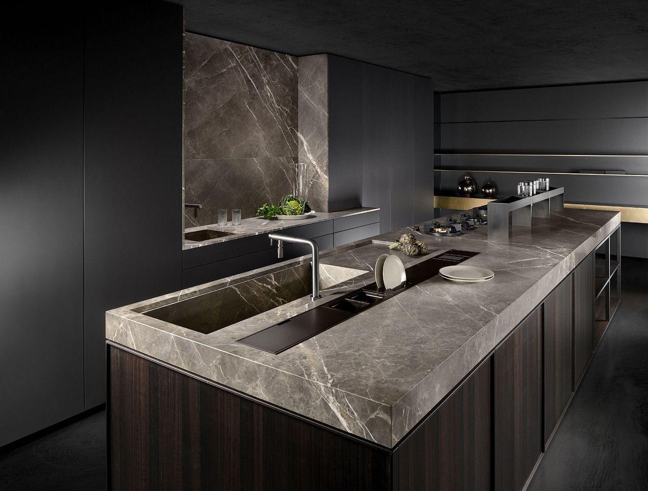 Ex Display Bespoke Italian Kitchen With Marble Worktops In 2020