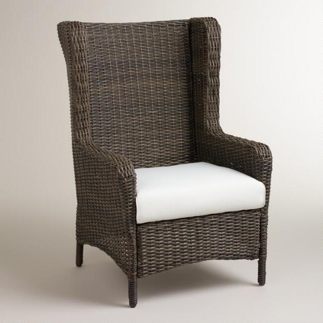 Himara All Weather Wicker Wingback Chair
