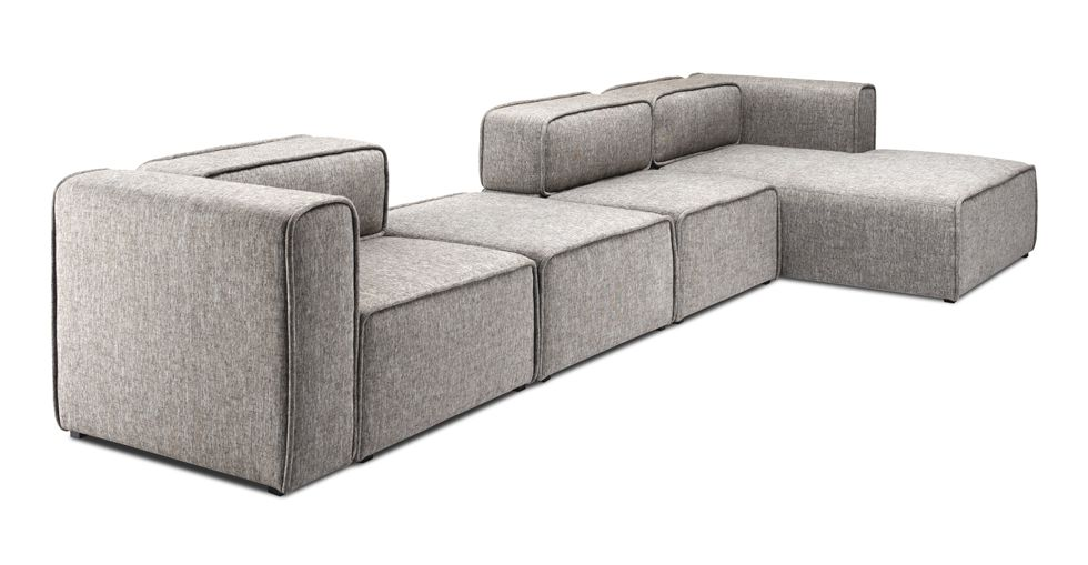 Tremendous Acura 3 Seat Right Sectional With Chaise 308 Living Dining Theyellowbook Wood Chair Design Ideas Theyellowbookinfo
