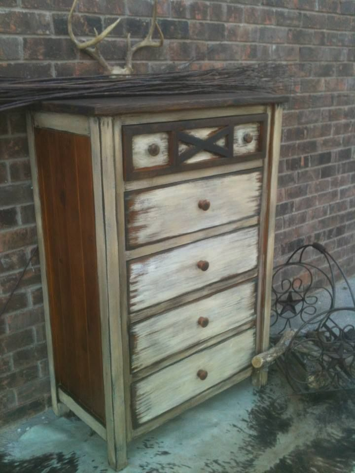 Best Rustic Whitewashed Knotty Pine Chest Of Drawers 400 x 300