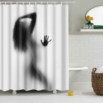 Hot Sale Eco-Friendly Charming Figure Printing Shower Curtain For