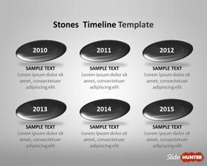 Stones Timeline Template For Powerpoint  Work