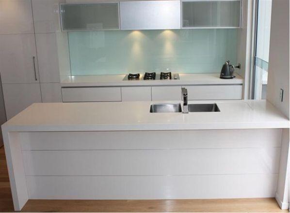 Quantum Quartz Alpine White Benchtop Residential Gallery