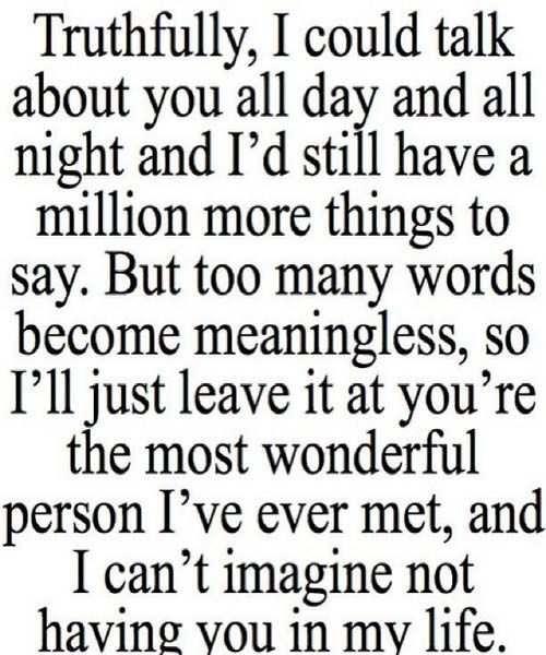 I can\'t imagine life without you | Thoughts on love | Cute ...