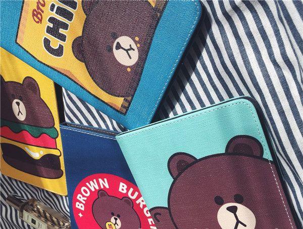 新型ipad2017 ケース 通販ipad air2 mini3韓国line熊ブラウン耐衝撃ipad4キャラクター革レザー収納くまカバー5全包み雛ひよこpro9 7サリー内部シリコンケース6ライン ヒ ケース レザーケース ipad air2 ケース