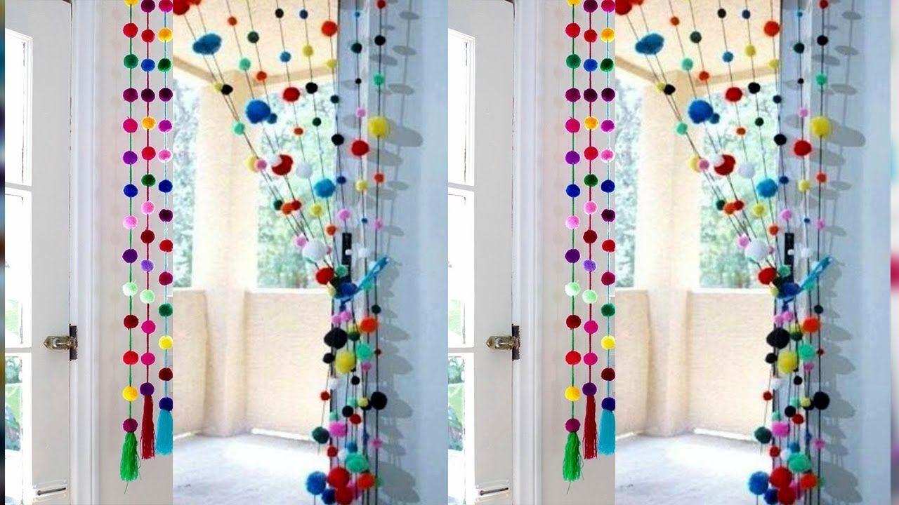 Diy Pom Pom Door Hanging How To Make Door Hanging Toran Woolen