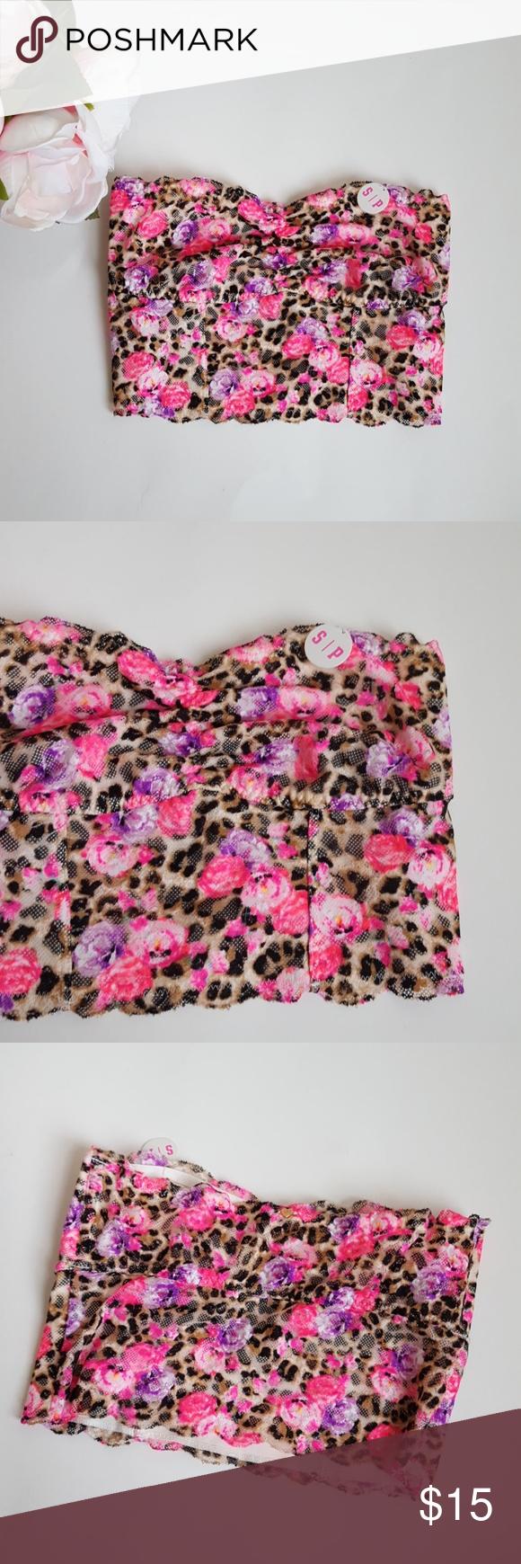 3549b0df10b57 PINK lace bralette floral leopard print -D3 New with tags! Victoria s  Secret bralette