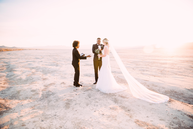 Photo of Winter Desert Elopement