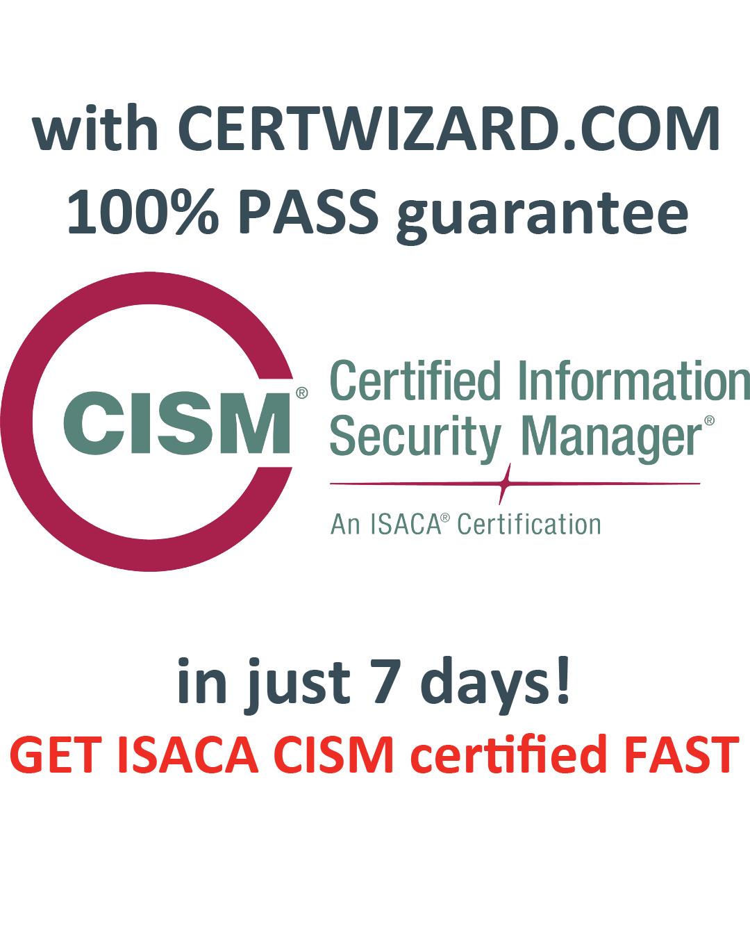 cism certification certificate pass exam