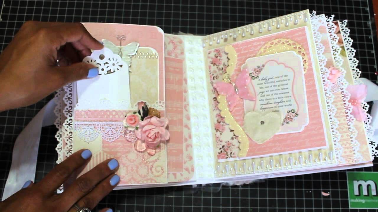Baby Girl Mini Scrapbook Album August 2015 Sold Scrapbook Ideas