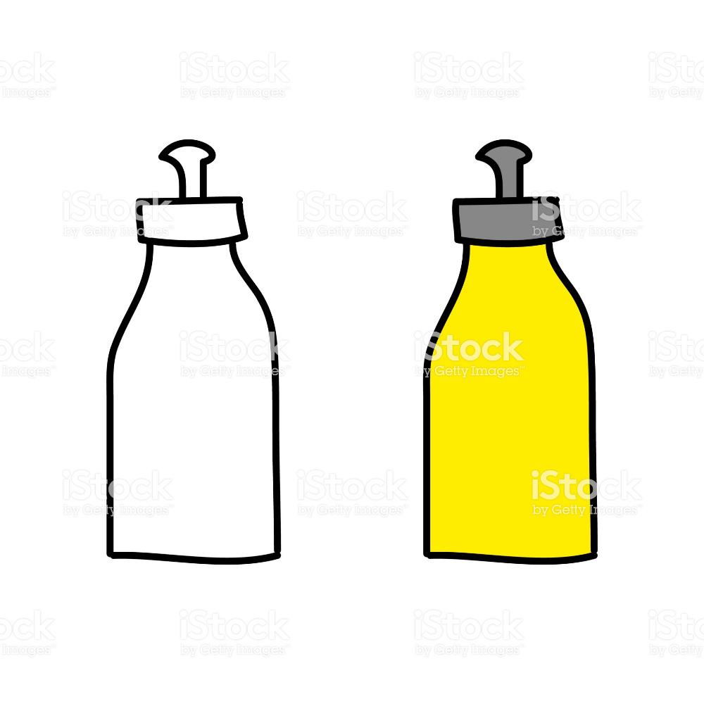 Cartoon Drawing Of A Drinking Bottle Bottle Drink Bottles Stock Illustration
