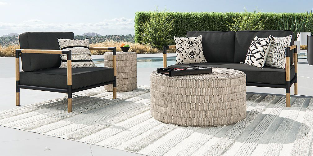 Outdoor Furniture Collections Dining And Lounge Crate And Barrel Outdoor Lounge Furniture Outdoor Furniture Collections Lounge Furniture