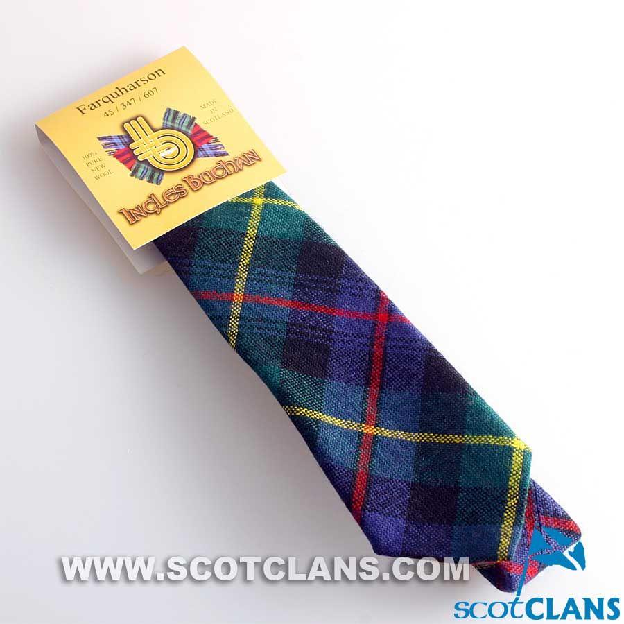 Tartan Tie Clan Farquharson Scottish Wool Plaid