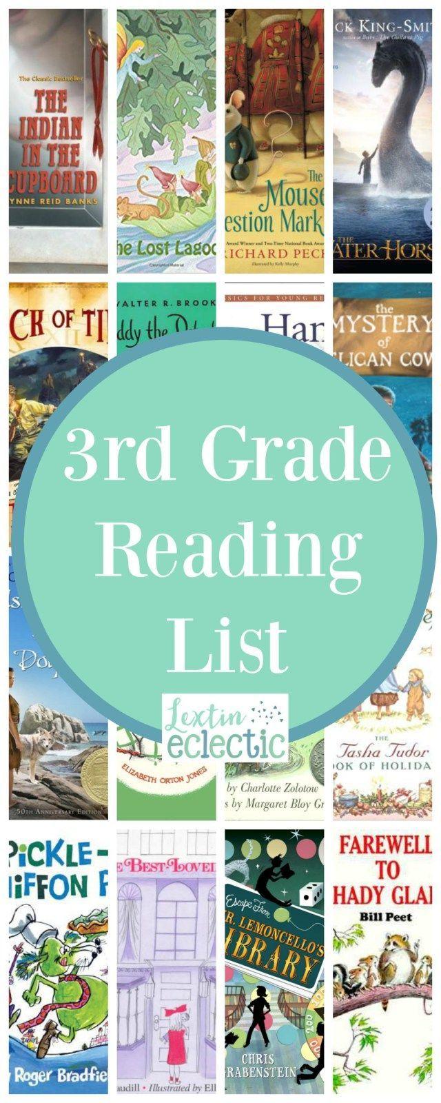 3rd Grade Reading List - Lextin Eclectic