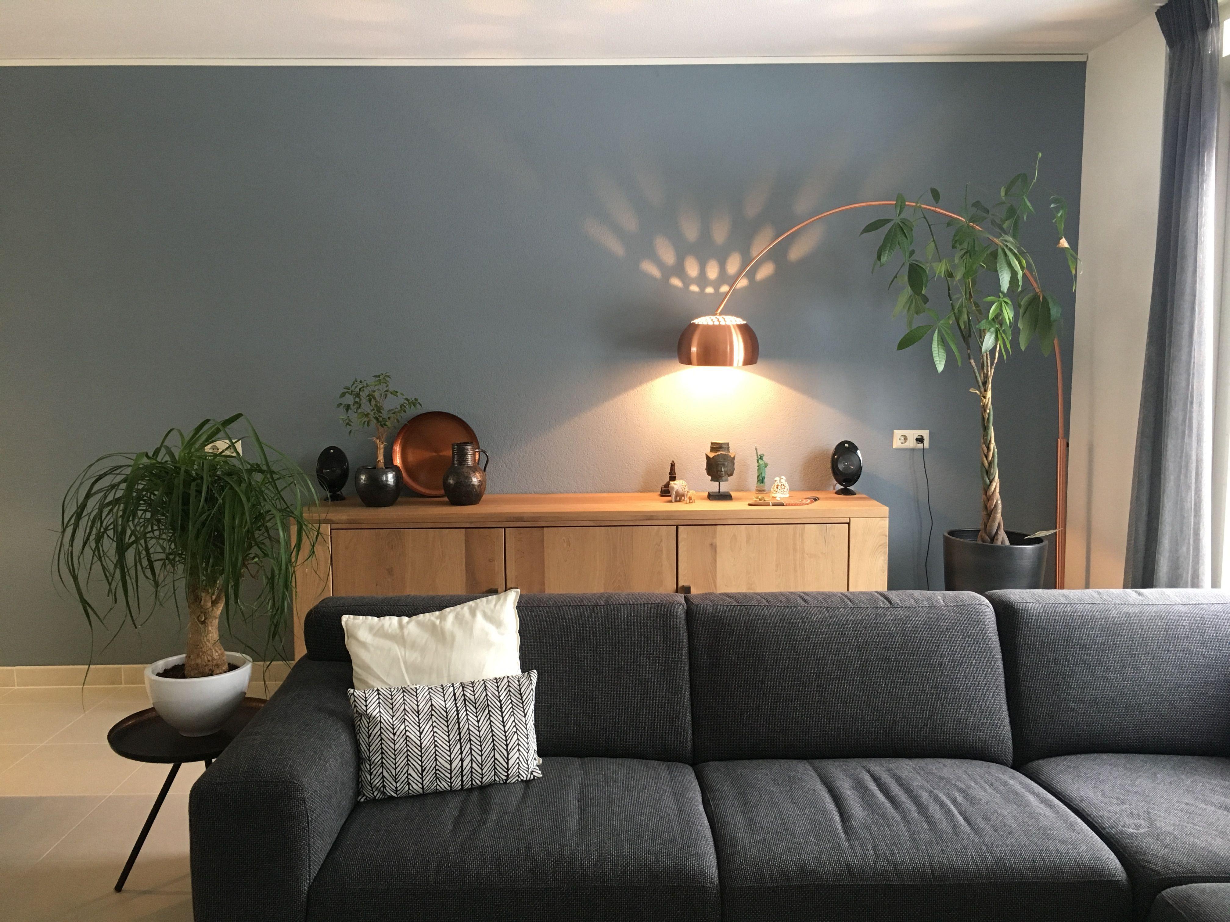 Denim Drift woonkamer kleur muurverf  Interieur in 2019