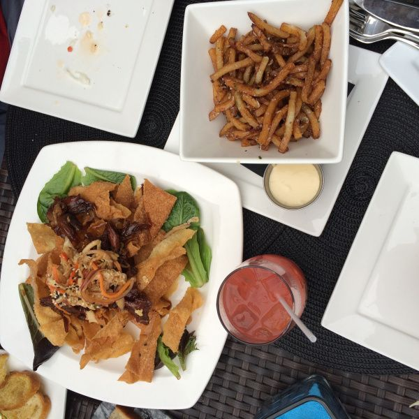 duck nachos mags fries parmesan fries magnum and steins downtown st.john's newfoundland where to eat restaurant review wine bar deck patio dining