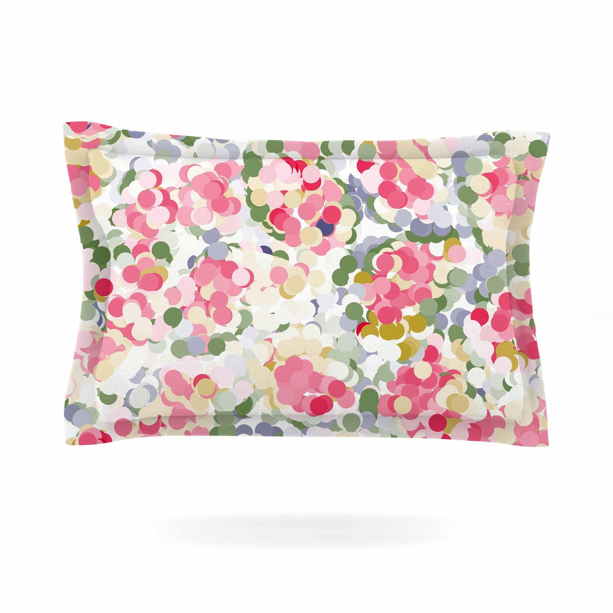 Matthias Hennig Soft Dots Pink Floral Pillow Sham Products