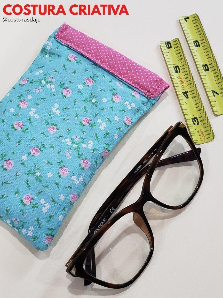 49799d383 Como fazer Porta Óculos com trena Para você usar a trans como fecho é  preciso alguns