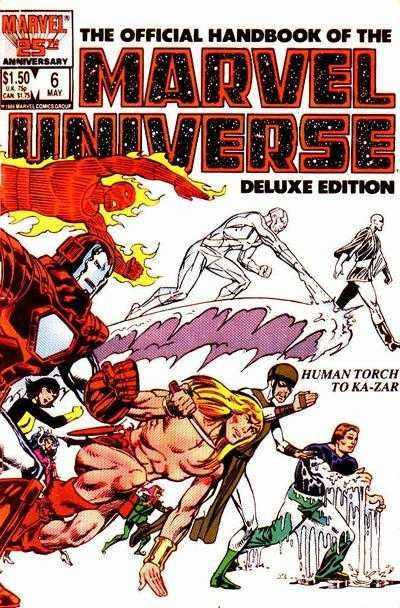 The Official Handbook of the Marvel Universe #6 - Human Torch To Ka-Zar (Issue)