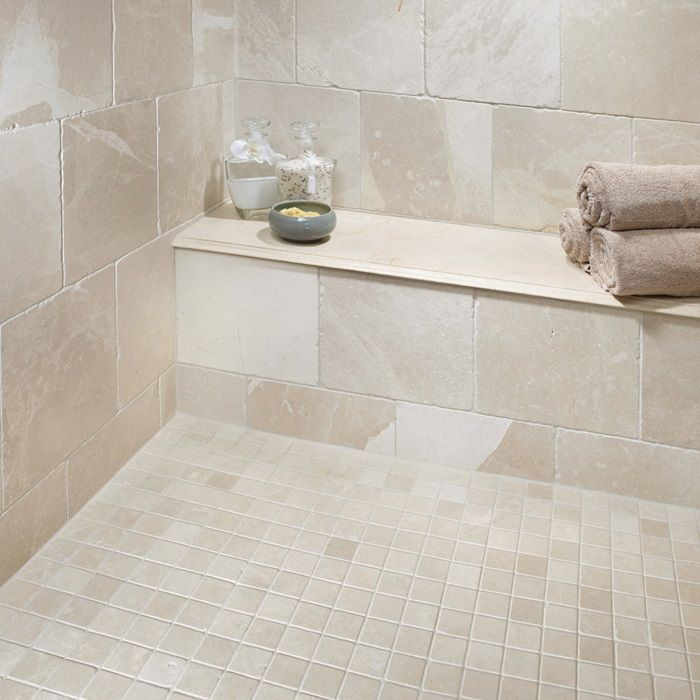 Crema marfil stone tumbled marble tiles slabs arizona for Crema marfil bathroom designs