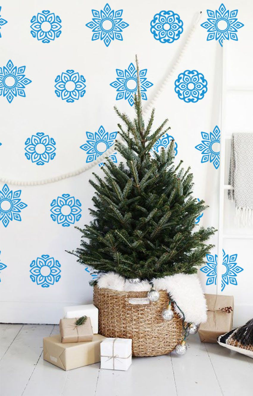 Snowflakes Wall Decals Snowflake Vinyl Decals Christmas Decals Christmas  Decorations Xmas Wall