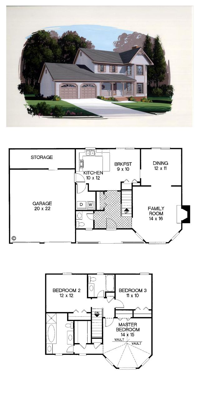Bungalow country house plan 92424 bay windows bungalow for House plans with bay windows