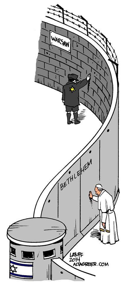 Cartoon Pope Francis In Palestine 039 Warsaw Ghetto Palestine Warsaw