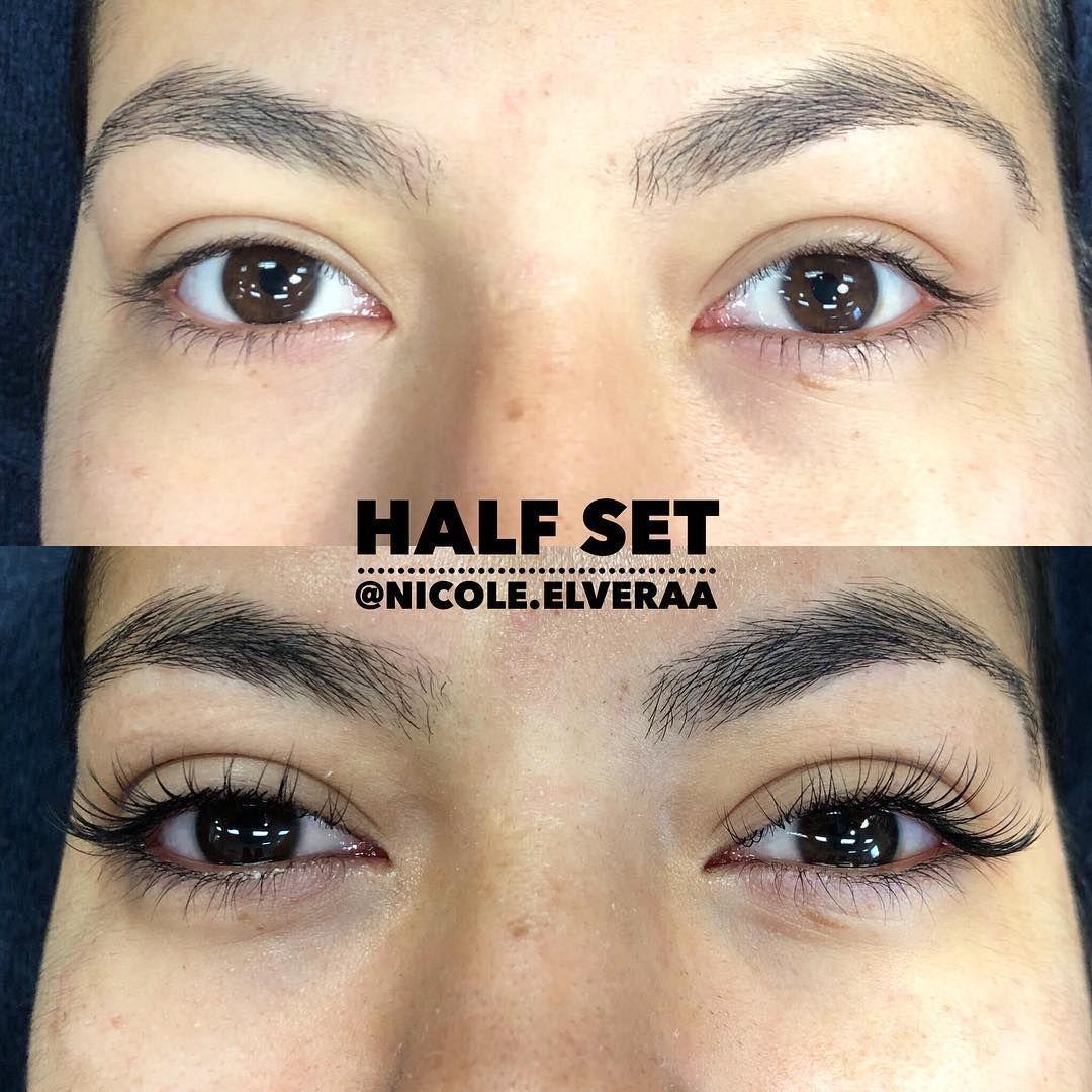 EyelashExtensionsHowToApply Eyelash extensions, Half