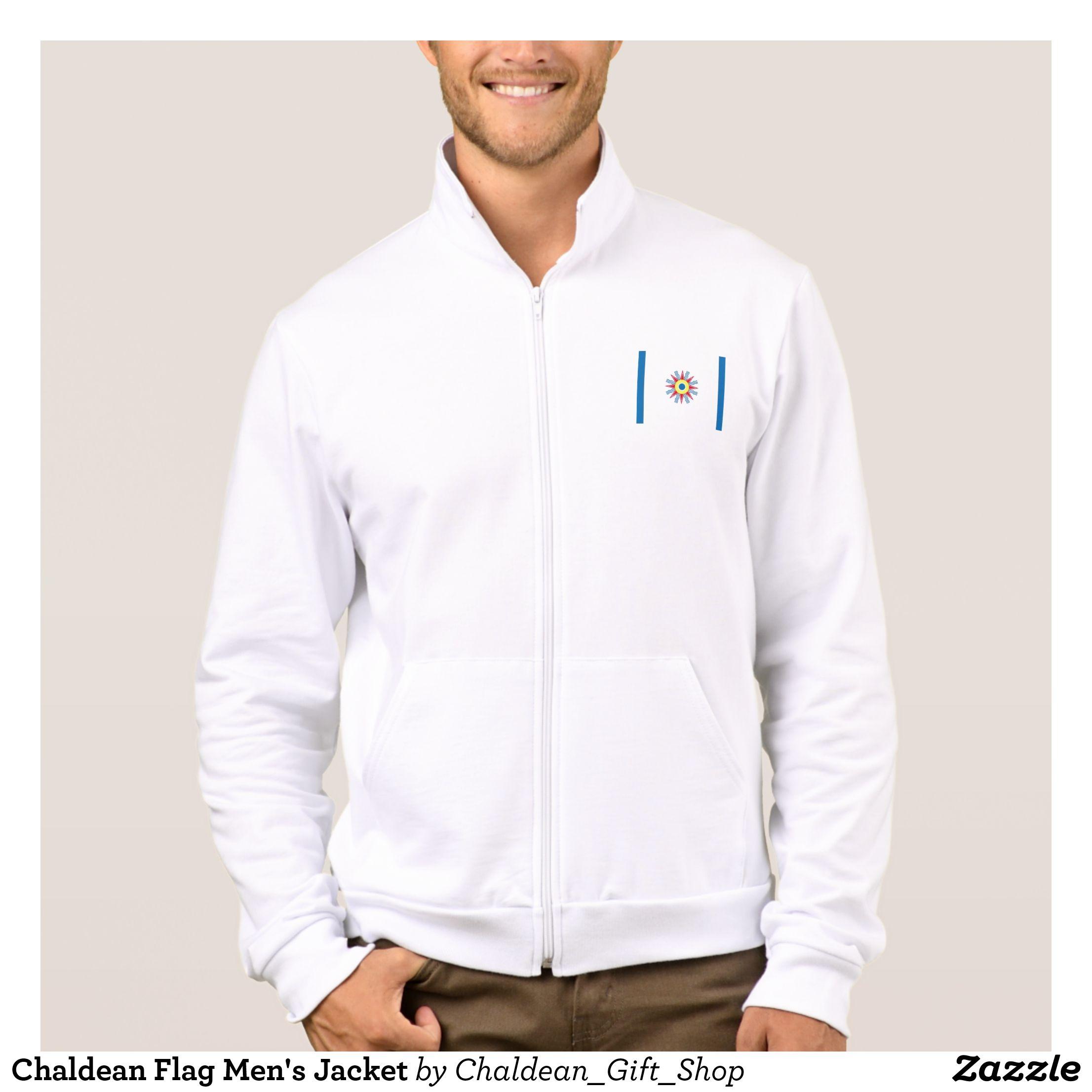 Chaldean Flag Men S Jacket Zazzle Com Mens Jackets Jackets Vintage Jacket