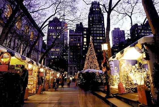 NYC Bryant Park at Christmas