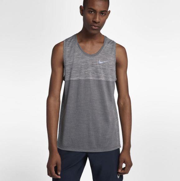 f7e923433b5590 Nike Dri Fit Medalist Men s Running Tank Top NEW 924613-036 Size Large  Nike   ShirtsTops