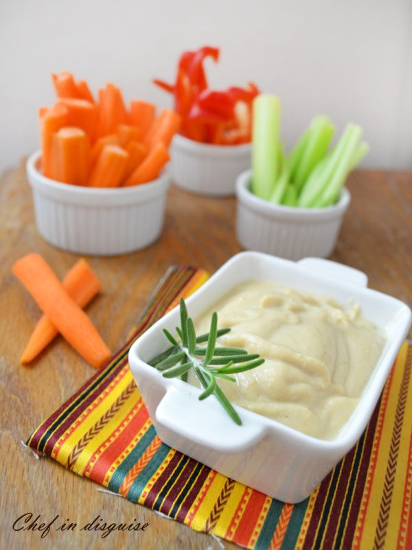 lentil dip with rosemary and lemon. A great after school snack