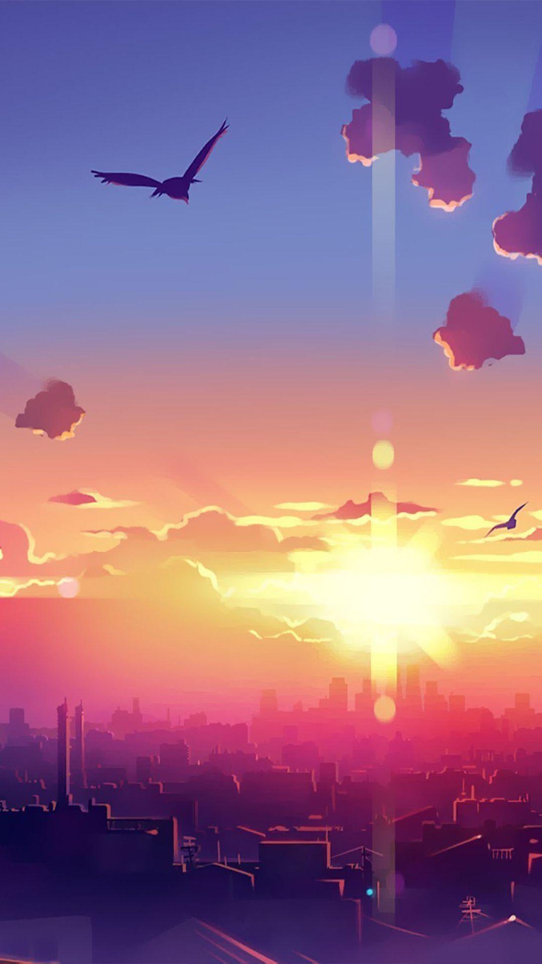 List Of Latest Anime Wallpaper Iphone Scenery Oboi Iphone Wallpaper In 2020 Anime Scenery Anime Wallpaper Landscape Wallpaper