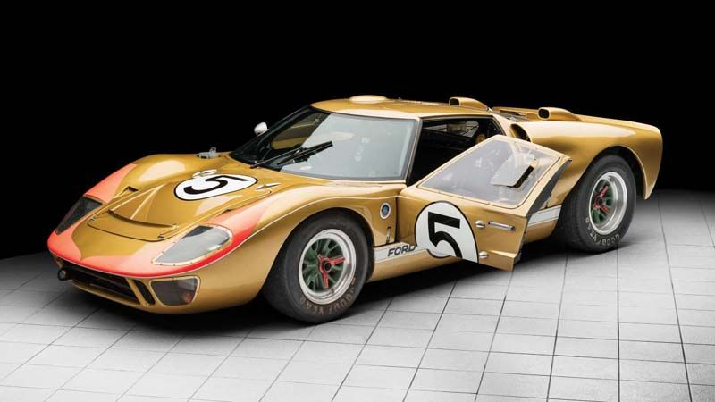Famous 1966 Le Mans Ford Gt40 To Be Auctioned In August Ford Gt40 Ford Gt Ford Racing