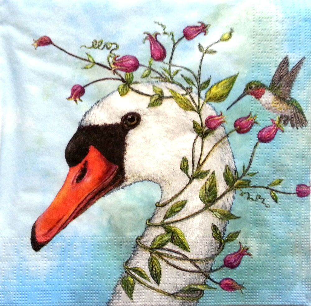 4 Vintage Table Paper Napkins for Party Lunch Decoupage Mix Animals Artist