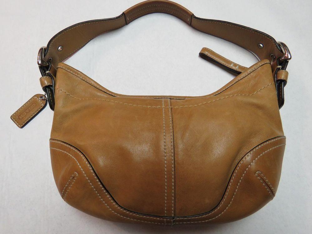 Coach Soho Small Hobo Handbag Purse Brown Leather