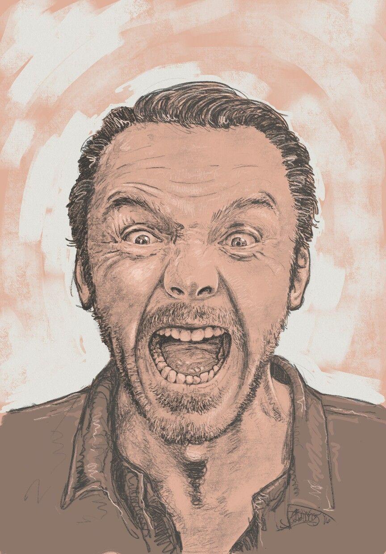 """Simon Pegg"" digiART Procreate by Dexter ""deadwriter "" Betantos"